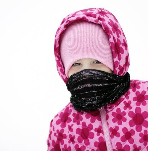 Close-up Girl Headshot Headwear Human Body Part Looking At Camera One Person Pink Color Portrait Warm Clothing White Background Winter