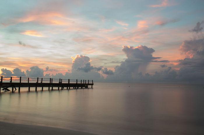 Ozean Water Outdoors Nature Meer Mexico Strand Sonnenuntergang Sonnenaufgang Wolken Morgenstimmung Morgenrot Morgenröte Morgenstund... Sommergefühle Sonnenschein  Been There.