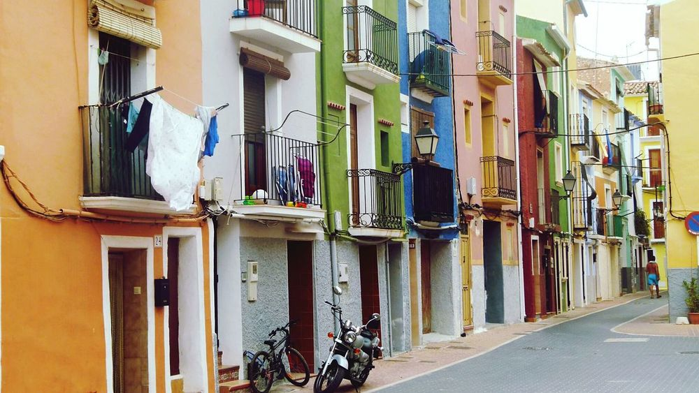Houses Urban Life Villajoyosa Street Photography Colorful Houses Housing Townhouse Streetphotography Street Portrait Coloured Houses The Architect - 2016 EyeEm Awards The Street Photographer - 2016 EyeEm Awards