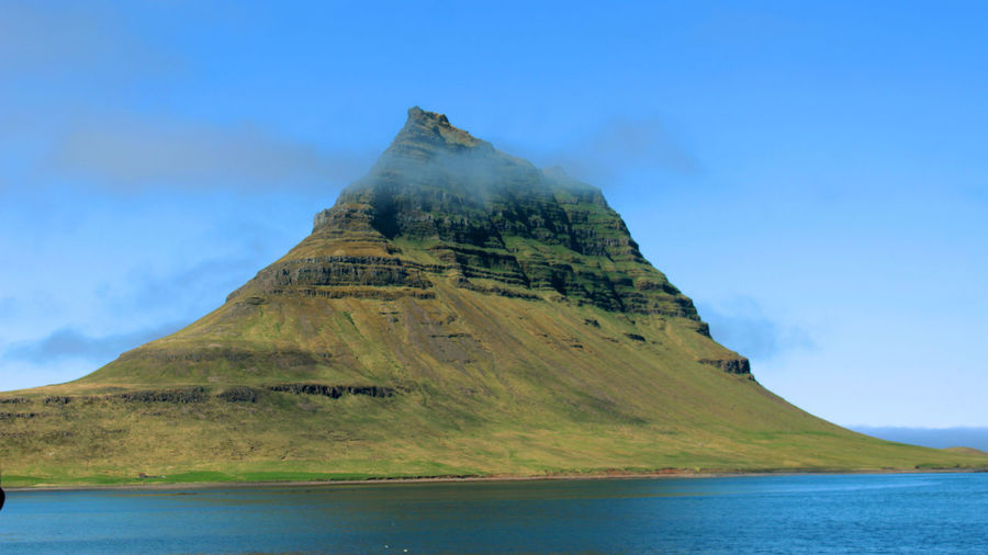 Kirkjufell Mountain in Iceland. Game Of Thrones Iceland Kirkjufell Beauty In Nature Cloud - Sky Day Geology Iceland_collection Idyllic Mountain Mountain Peak Nature No People Non-urban Scene Outdoors Scenics - Nature Sea Sky Tranquil Scene Tranquility Water
