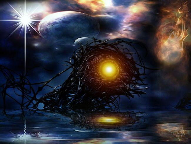 Illuminated Night No People Sea Space Fragility Star - Space Abstract Art Edit Junkie Sticks And Twigs