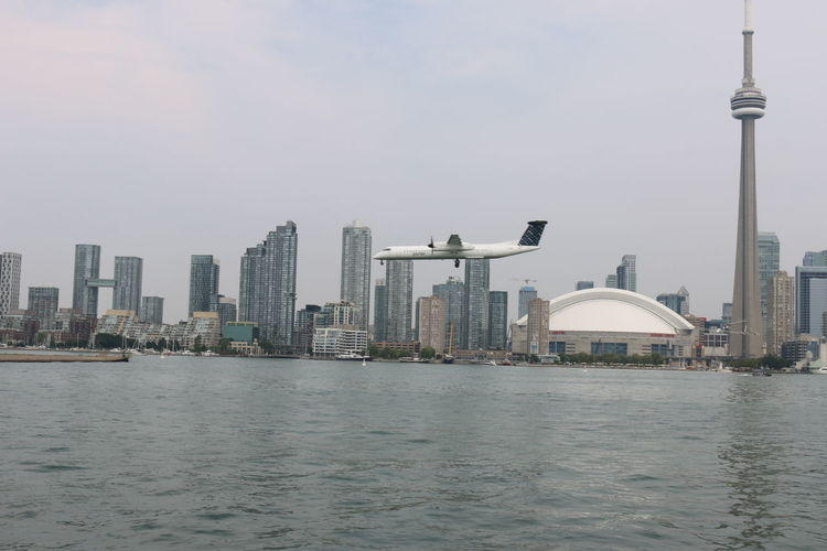 Built Structure City Cityscape Modern Skyscraper Tall - High Urban Skyline Water
