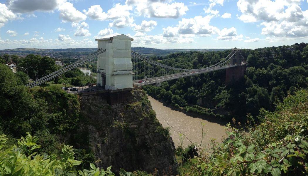 Bristol Suspension Bridge Bridge Isambard Kingdom Brunel. River Avon Structure Gorge View From Above View Scenery