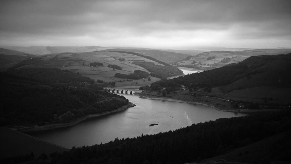 Canon Blackandwhite Reservoir Water Beauty In Nature Mountain Scenics - Nature River Sky Tranquil Scene Tranquility Nature Cloud - Sky Environment Landscape Non-urban Scene High Angle View Outdoors Land