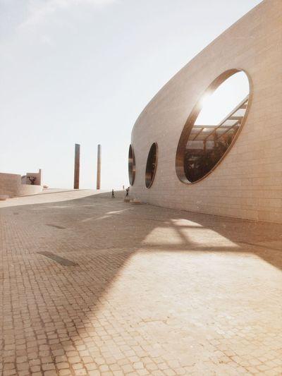 Film Emulation EyeEm Best Shots Perspective Lisbon Sky Architecture Built Structure Nature Day Clear Sky Sunlight Building Exterior Copy Space Shadow Building