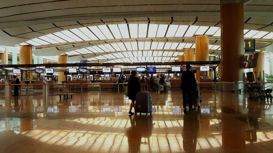 Changiairport Changi Airport Changi Airport, Singapore Singapore Singapore Life Journey Reflection Indoors  Passenger Travel