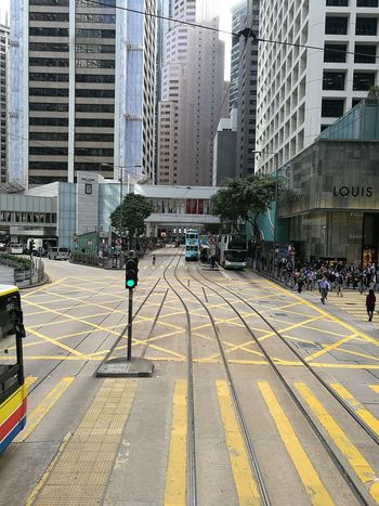 No Traffic No Crowd No Traffic No Traffic Jam City Architecture Transportation Built Structure Building Exterior City Life Outdoors Day Skyscraper Large Group Of People People Hong Kong Central