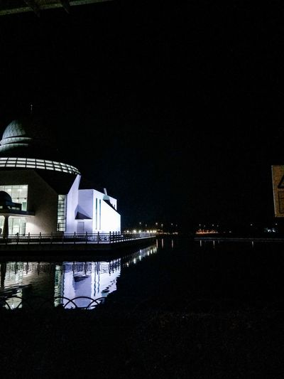 Night shot of the An-Nur mosque in Perak Reflection Built Structure Architecture Water Building Exterior Night No People Outdoors Sky Mosque Mosque Architecture EyeEmNewHere
