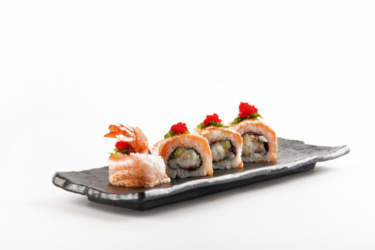 Food And Drink Sushi Close-up Copy Space Cut Out Food Food And Drink Food Photography Foodphotography Freshness Gourmet Healthy Eating Marketing No People Photo Photographer Photography Photooftheday Ready-to-eat Red Seafood Serving Size Still Life Studio Shot White Background
