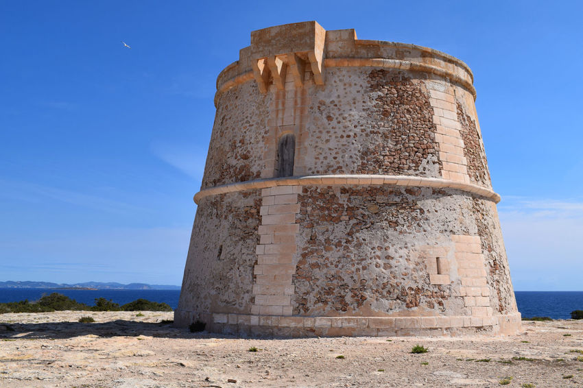Torre de sa Punta Prima, Formentera Formentera Formentera Island Ibiza Torre De Sa Punta Prima Architecture Built Structure Day Formentera Ibiza Low Angle View Nature No People Outdoors Punta Prima Sky Torre Watchtower Watchtowers