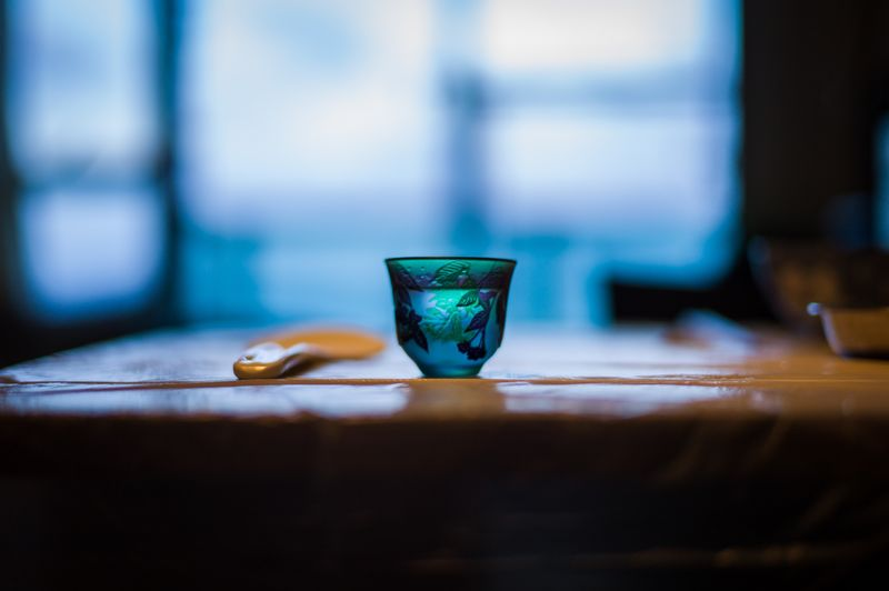 Close-up of drink in cup on table