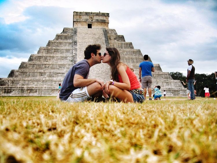 Chichen Itza Chichenitza Chichen-Itzá Love Kiss Couple Happy Lovely Day Nature_collection EyeEm Nature Lover Happiness New Years Resolutions 2016 Feel The Journey 43 Golden Moments