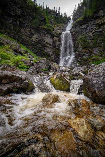 By the waterfall Mountains Waterfalls Hiking Sweden Scandinavia Summer Outdoor Life Vemdalen Water Scenics - Nature Motion Waterfall Beauty In Nature Long Exposure Flowing Water Nature Splashing Rock No People Flowing Outdoors