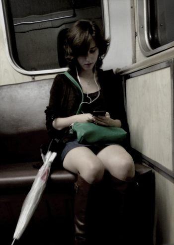 Russians Metro Cute Girl