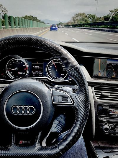 Audi RS4 Transportation Mode Of Transportation Motor Vehicle Land Vehicle Control Panel Vehicle Interior Close-up Technology Road Indoors  Day Number Communication Car Interior Dashboard Travel Car No People Control Meter - Instrument Of Measurement