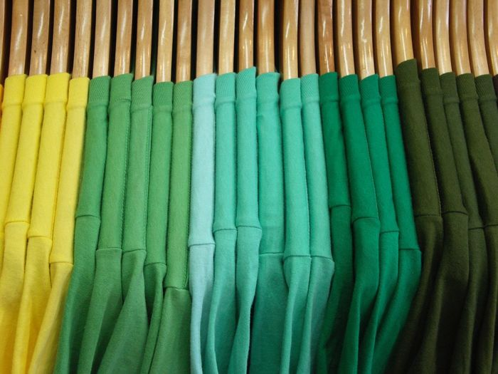 Close-Up Of Multi Colored T-Shirts