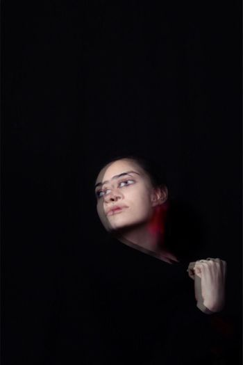 Doble Black Background One Person Studio Shot Young Adult Real People Indoors  Adult People Adults Only