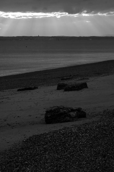 Sandy Southsea Black & White Eastney Beach Beach Beauty In Nature Blackandwhite Day Horizon Over Water Nature No People Outdoors Pebble Beach Sand Scenics Sea Shore Sky Tranquil Scene Tranquility Water