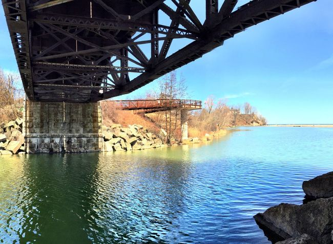 Under the Bridge that crosses the Rouge River between Scarborough and Pickering just before the river meets up with Lake Ontario Toronto Waterfront Trail IPhoneography