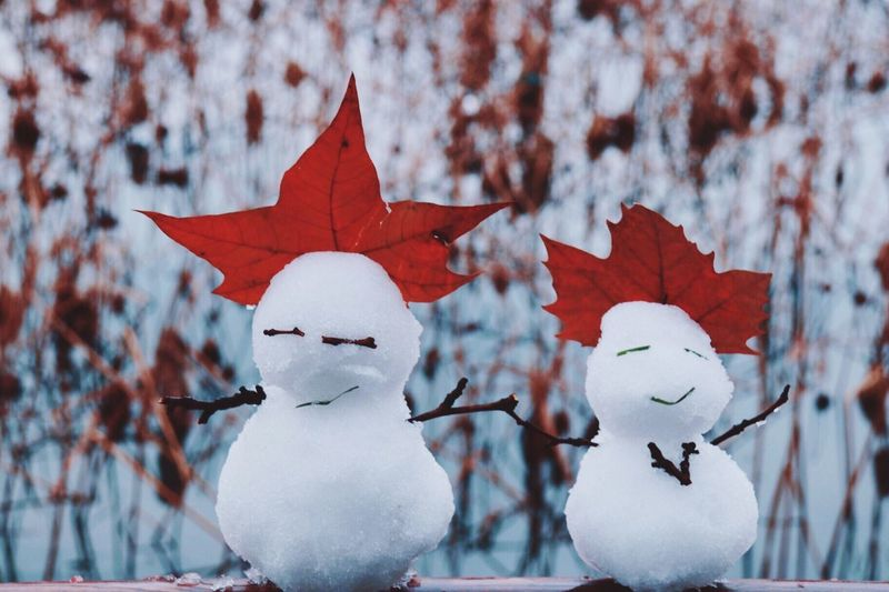 Snow man. Art And Craft No People Snow Winter Representation Cold Temperature Creativity Red Outdoors Snowman White Color #NotYourCliche Love Letter