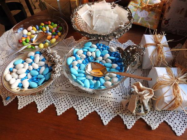 Bonbons Battesimo Bonbonniere Cerimony Food High Angle View Sweet Sweet Food Sweets Table Variation