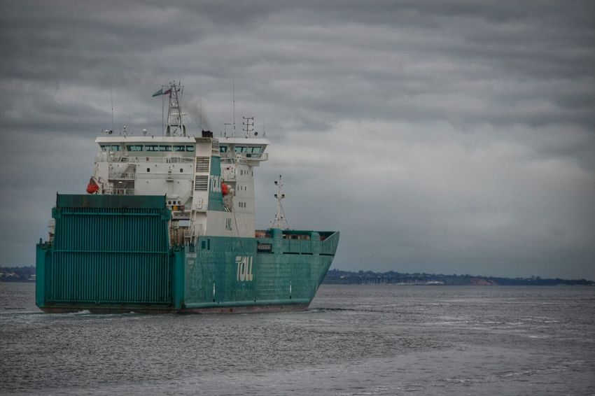Container Ship Transportation Nautical Vessel Cloud Cloud - Sky Sky Sea Water Cloudscape Moody Sky Ship Cloudy Day Outdoors Melbourne Australia Transport Sea Going Ocean Vessel Vessel Leaving Port Dramatic Sky Outward Bound Outward En Route