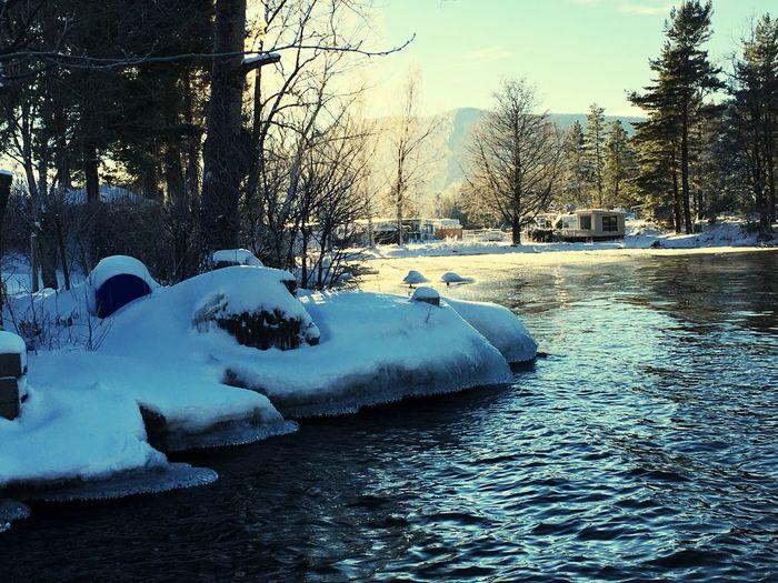 Water Winter Ice Mothernature Norway Eikeren Sun LivingForLove Happy