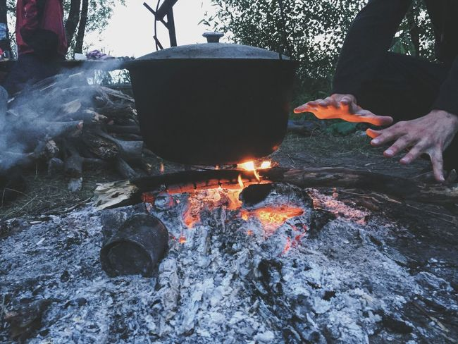 Outdoors Fire Trip Food On Fire! Cooking Warming The Soul Active Lifestyle  Live For The Story