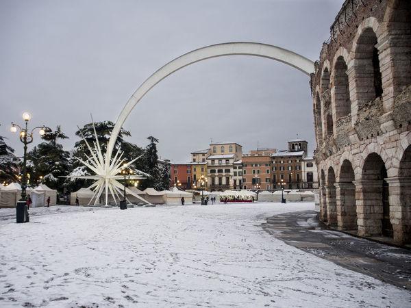 Verona snow Arena Di Verona, Italy Verona Italy Architecture Arenadiverona Building Exterior Built Structure City Cold Temperature Day Natale #christmas Outdoors Snow Stella Verona In Love Winter
