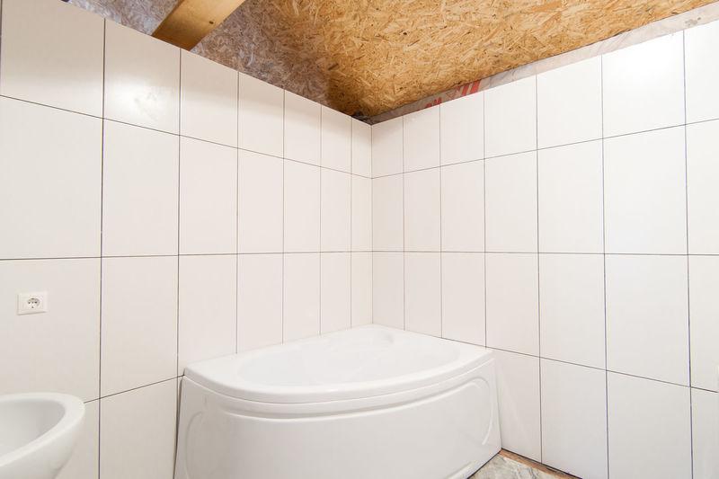 High angle view of bathroom at home