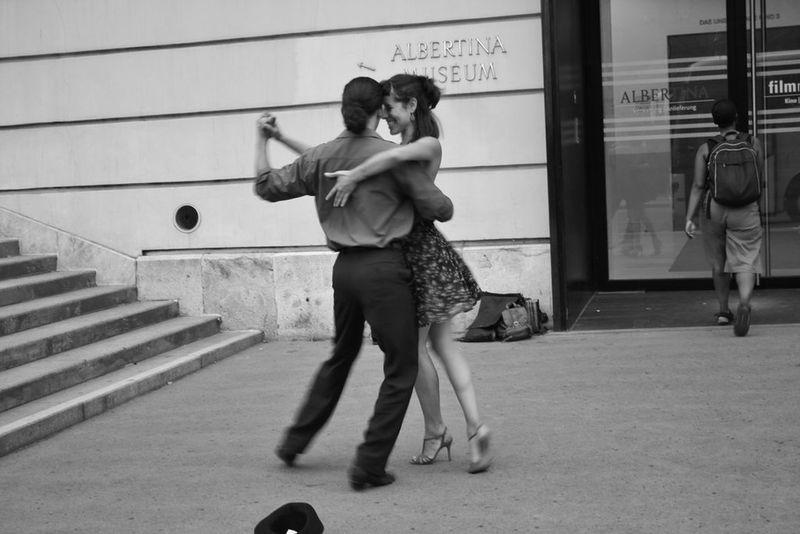 Austria Blackandwhite Couple Dancing Happy Salsa Tango Vienna