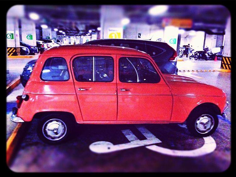 Vintage Car Renault 4 Pink Car Mexico City