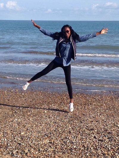 Beach Jump Brittas Bay Wicklow Ireland