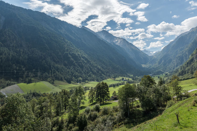 Gebirge Himmel Hohe Tauern Pinzgau Salzburger Land Wolken Kaprun Tag Wandern Österreich