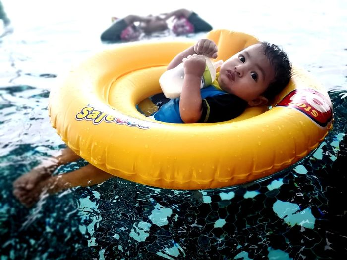 Swimming Float Milk Infant Baby EyeEm Selects Water Yellow Childhood Close-up