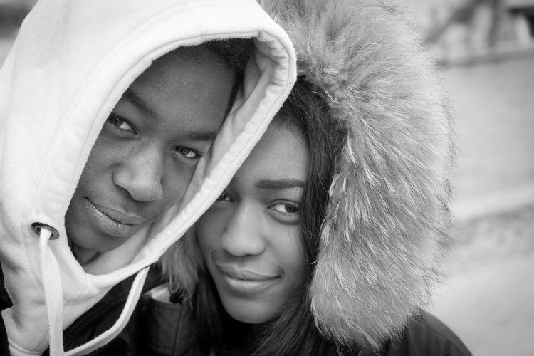 Close-Up Portrait Of Smiling Couple