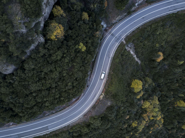 High angle view of highway on street