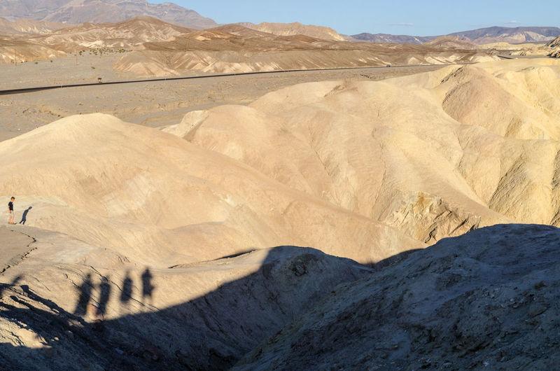 Shadows during sunset at Zabriskie Point, California, USA Arid Climate California Desert Dunes Furnace Creek Geology Outdoor Outdoors Q Quadruple Quartet Quest Quiet Quiet Moments Sand Dune USA Zabriskie Point