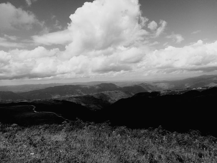 Sky Black & White Alone In The World Only Men Vacations Beauty In Nature Nature Cloud - Sky
