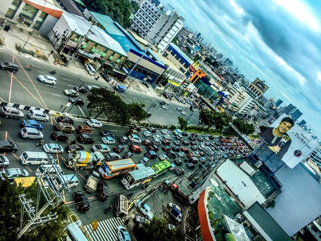 Traffic Rush Hour in Eyeem Philippines City City Street High Angle View Land Vehicle