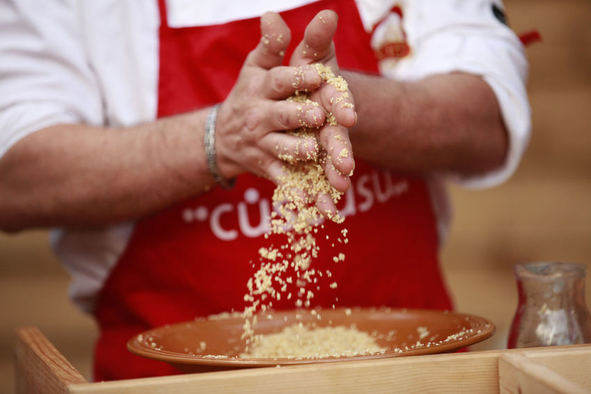 couscous Couscous Garlic Sicily Trapani Close-up Couscous Preparation Cuscus Cuscusu Food Food And Drink Freshness Italy Lemmo Mafaradda Men Oil One Person Parsley People Preparation  Real People Redy To Eat