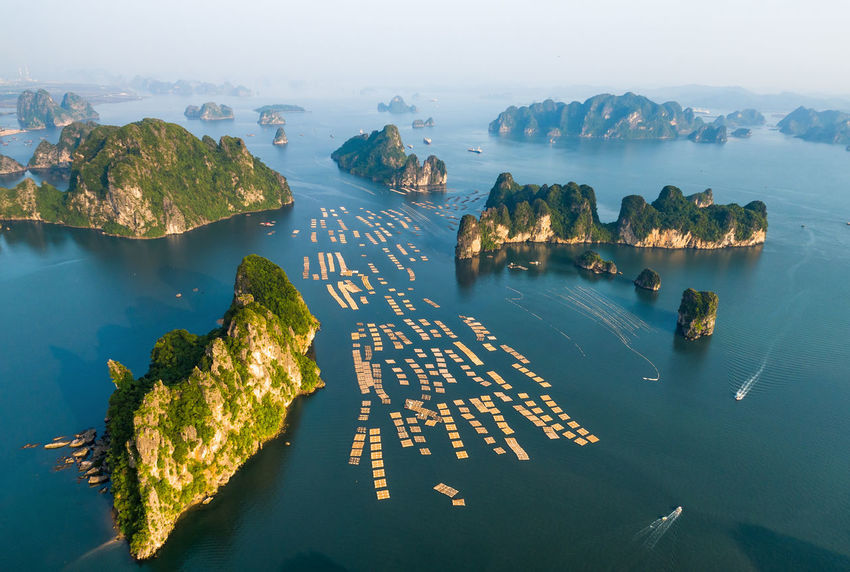 Bai Tu Long Bay Drone  Ha Long Beauty In Nature Day Dronephotography Ha Long Bay High Angle View Mountain Nature Nautical Vessel No People Outdoors Scenics Sea Sky Tranquil Scene Tranquility Water Perspectives On Nature