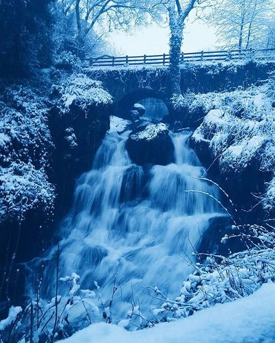 Rouken Glen waterfall Roukenglen Glasgow  Instaglasgow Ig_glasgow Instascotland Insta_Scotland VisitScotland Explorescotland Vscotland VSCO Vscocam Latergram Ig_Scotland IgersScotland Livinginscotland Lifeinscotland Snow Waterfall