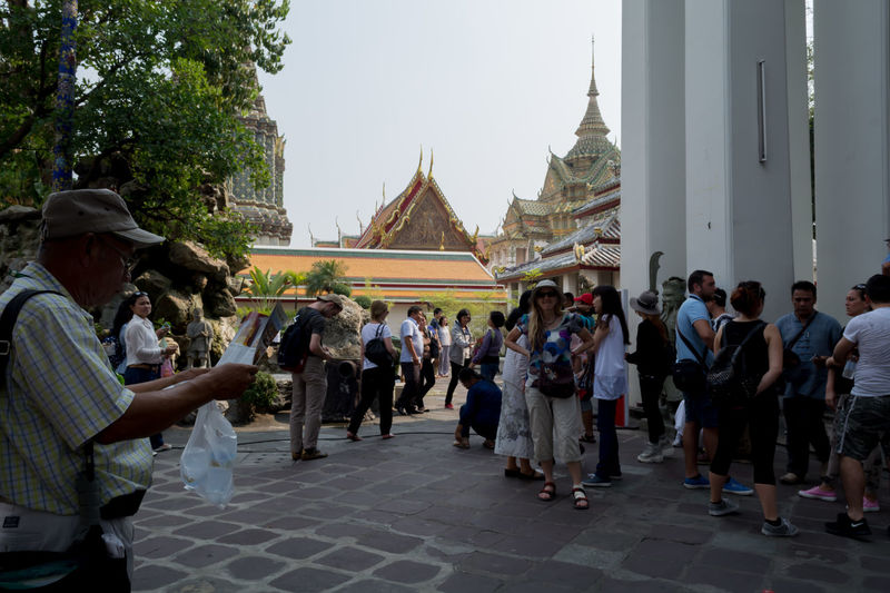 Thailand Religion Large Group Of People History People Men Architecture men People Children Outdoors Day Adult Tree Sky Adults Only Bangkok Building Exterior Status Women Learning Photooftheday Golden