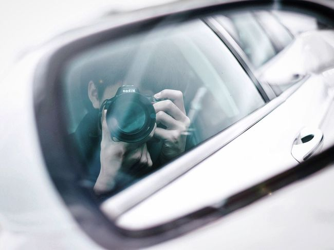 Car Transportation Close-up Indoors  Day Adults Only Side-view Mirror People Human Hand Human Body Part Adult Mirror Reflection Art Simplicity Design Bright Contrast Photography Photo