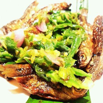 Ikan Bilih asap dari danau Singkarak disajikan dgn Lado Hijau @marcopadang Rasanya handal bro! Padangperanakan Minang