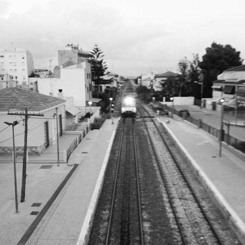 Railes Caminosdehierro Trenes Callosa De Segura Monochrome Popular Photos Light And Shadow Holiday POV