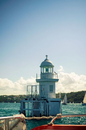 Lighthouse Built Structure Building Exterior Sky Architecture Sea Lighthouse Outdoors Day Scenics Water Beauty In Nature Tranquility Nature Nautical Vessel Cloud - Sky Dome No People Sea Sea And Sky Middleofthesea EyeEm Best Shots Eyeemmarket Newphotographer