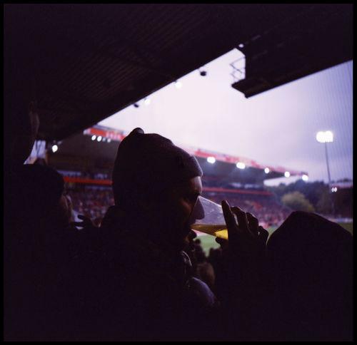 1.FC Union Gästeblock 1.FC Union Berlin 2.Bundesliga Alte Försterei Analogue Photography Berlin Fans Football Gästeblock Köpenick Köpenick Stadium