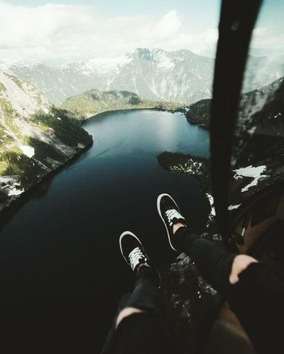 Adventure ✌ Shoe One Person Nature Danger Water Day Afraid Worthit ☺